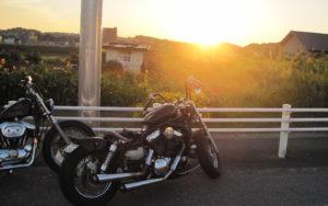 夕日とバルカン