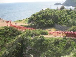 元乃隅神社海とのコントラスト