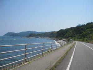 山口県海沿いの道