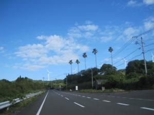 開聞岳近くの風車