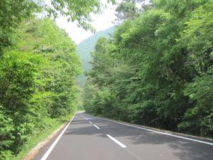 三瓶山への道