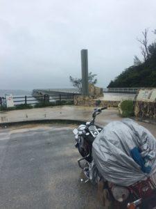 大雨の沖縄