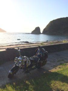 朝日でいい感じ海側
