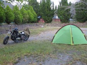 初ソロキャンプ設営