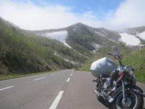 知床峠とバイク